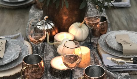 Elegant Outdoor Thanksgiving Tablescape