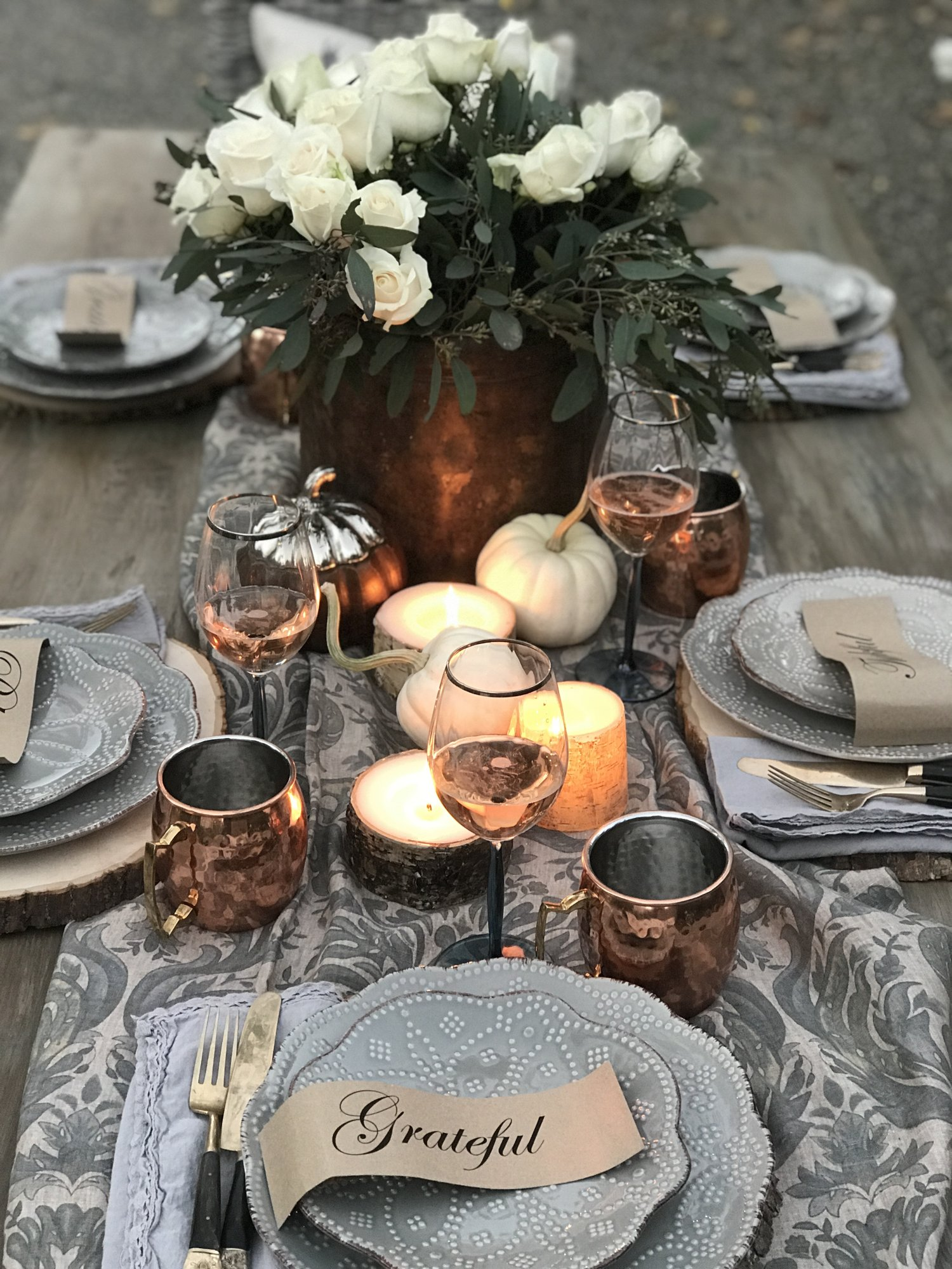 Diy Outdoor Fall Dinner Party Tablescape Ideas Pickled Barrel