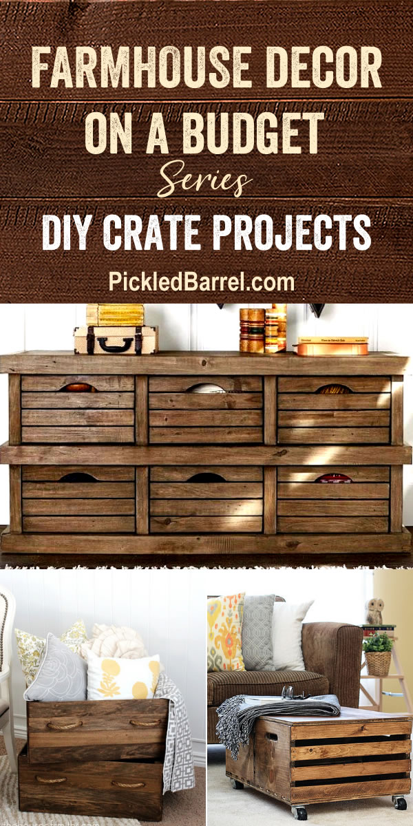Farmhouse Decor For Living Rooms: Farmhouse Budget Decor: DIY Crate Projects
