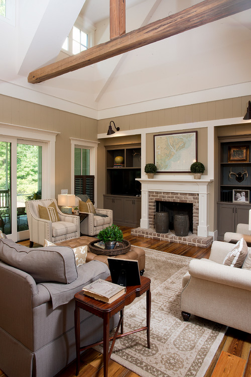 Neutral Modern Farmhouse Style Living Room - 10 Modern Farmhouse Style Living Rooms