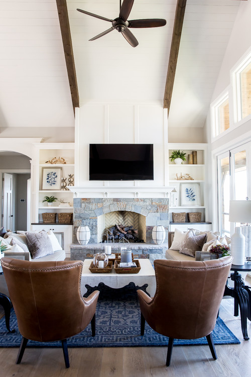 Modern Mountain Farmhouse Living Room - 10 Modern Farmhouse Style Living Rooms