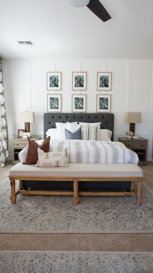 Farmhouse Style Bedroom Decor Ideas: Boho Decor
