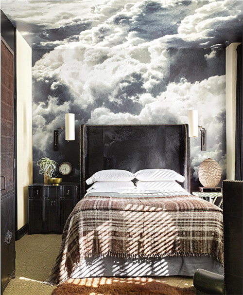 Farmhouse Style Bedroom Decor Ideas: Dreamy Clouds Mural
