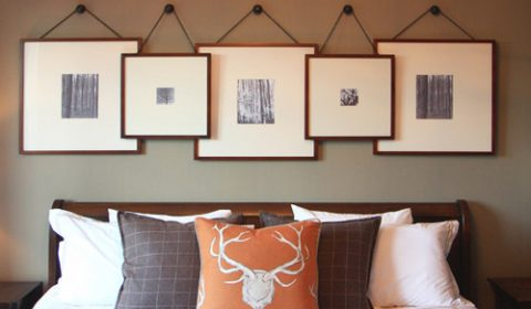Farmhouse Bedroom with Layered Picture Gallery