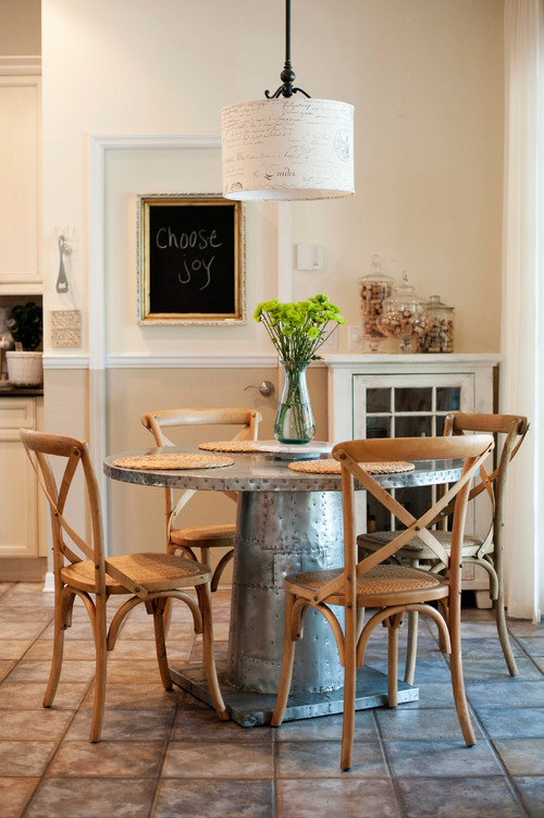 Farmhouse Style Galvanized Dining Table