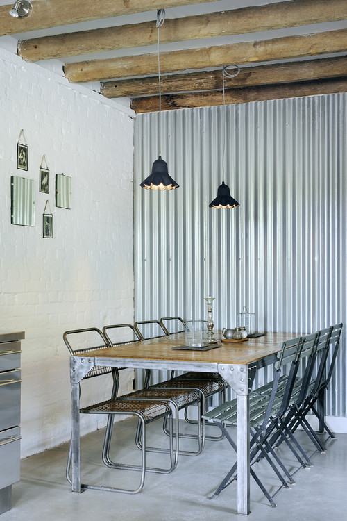 Industrial Farmhouse Galvanized Dining Room