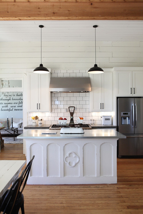 Joanna Gaines' Modern Farmhouse Kitchen with Shiplap