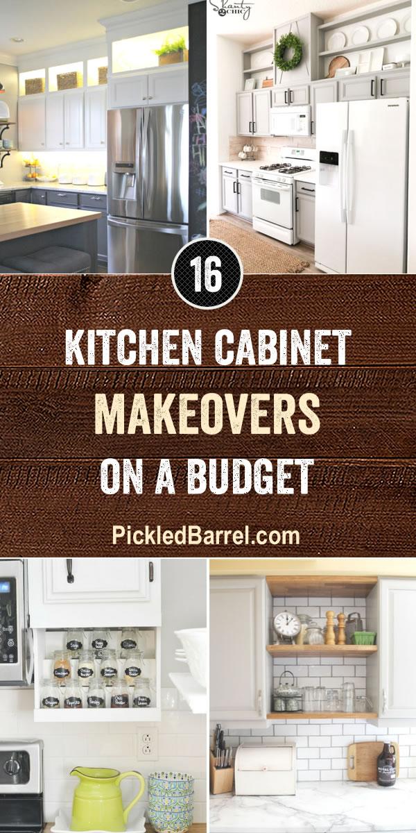 Kitchen Cabinet Makeovers on a Budget - PickledBarrel.com