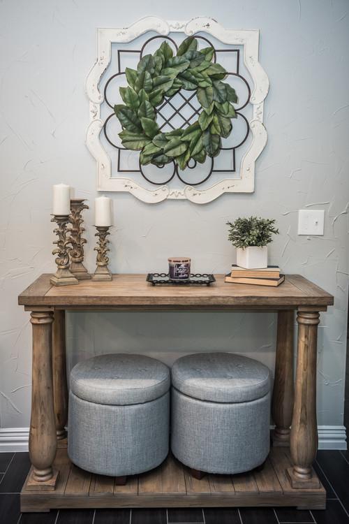Modern Farmhouse Decor with Classic Style: Framed Magnolia Wreath