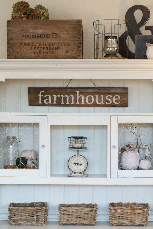Modern Farmhouse Decor with Classic Style: Stylish Storage