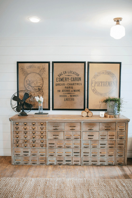 Modern Farmhouse Decor with Classic Style: Vintage Card Catalogue