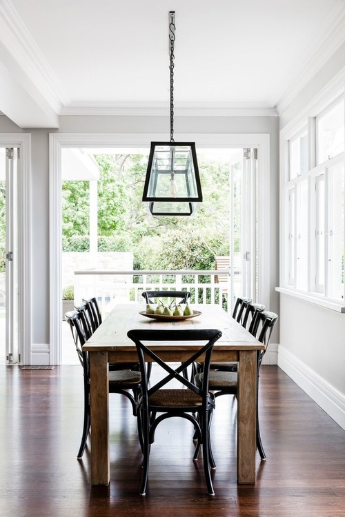 Modern Farmhouse Decor with Classic Style: High Contrast Dining Room