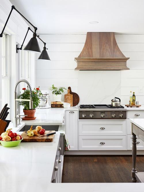 Modern Farmhouse Kitchen with Shiplap Wall