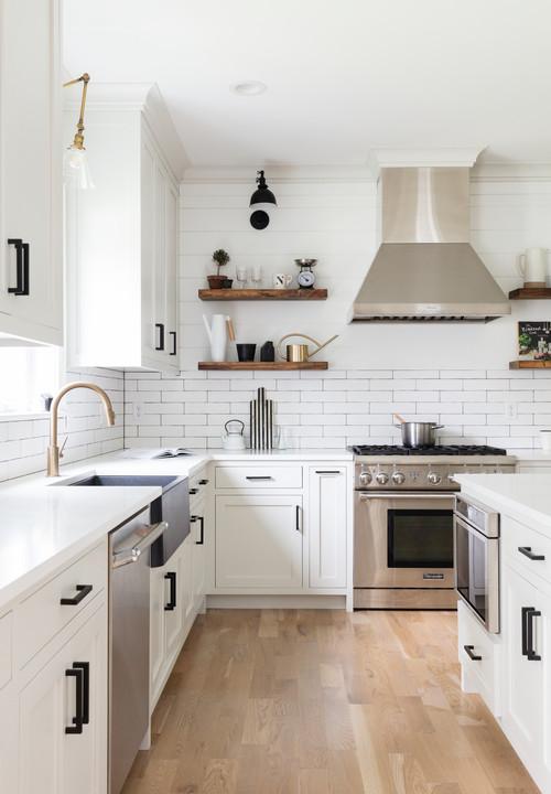 Modern Farmhouse Kitchen Shiplap Half Wall