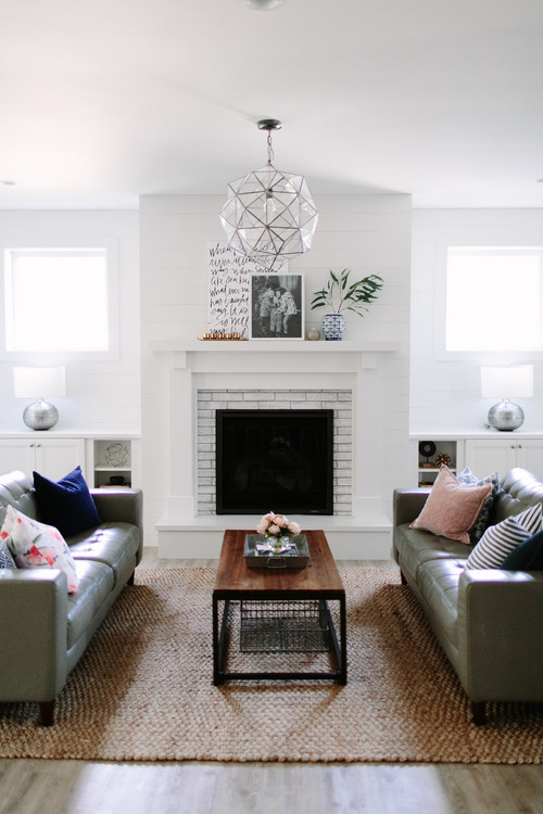 Modern Farmhouse Living Room with Shiplap