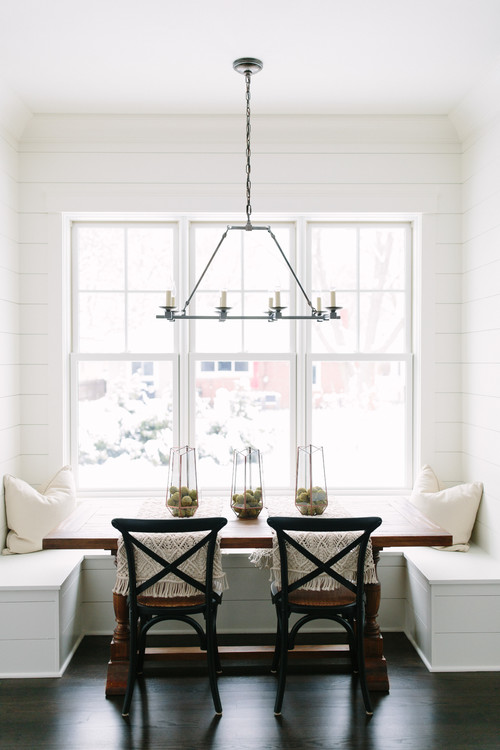 Modern Farmhouse Banquette with Shiplap
