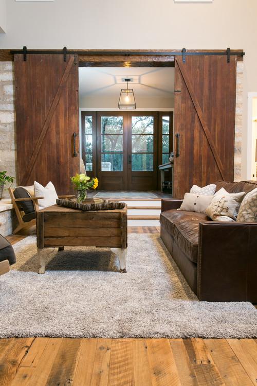 Modern Farmhouse Decor with Classic Style: Sliding Barn Doors