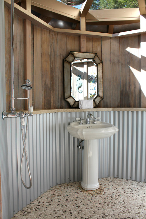 Outdoor Galvanized Bathroom