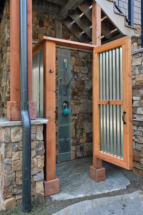 Outdoor Rustic Galvanized Shower