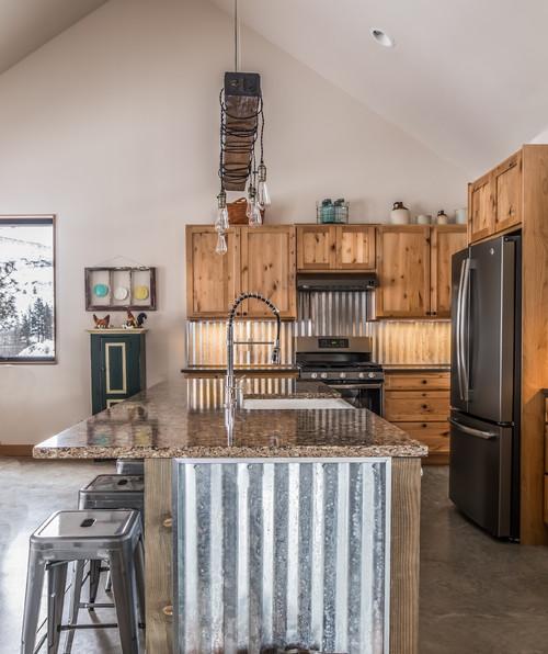 Rustic Galvanized Kitchen