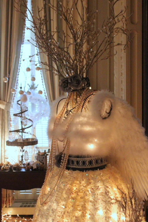 Shabby Chic Christmas Mannequin
