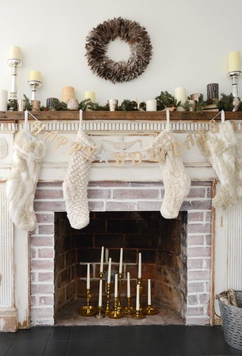 Shabby Chic Farmhouse Christmas Decor Ideas