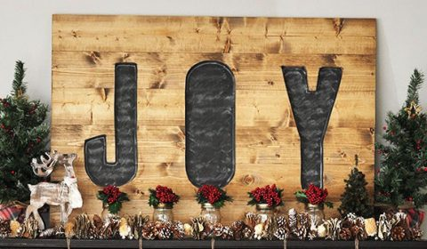 Build a DIY Joy Sign- PickledBarrel.com
