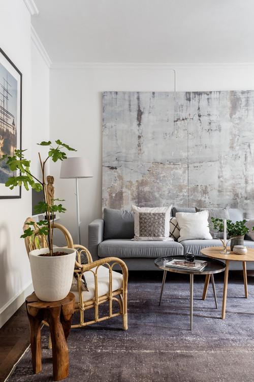 Cozy Scandinavian Living Room in Earth Tones
