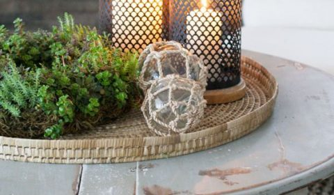 DIY Rustic Winter Coffee Table Decor