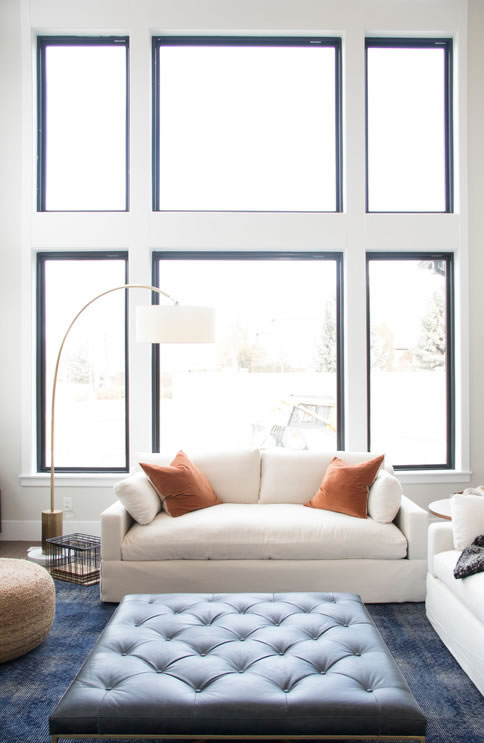 Modern Farmhouse Black Window Trim Ideas - PickledBarrel.com