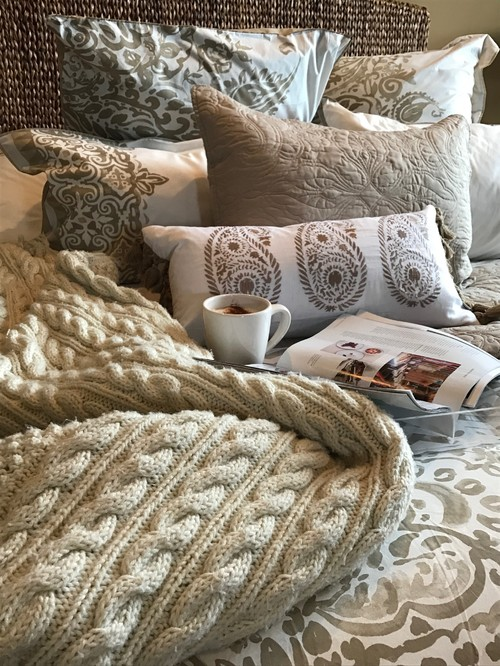 Modern Scandinavian Farmhouse Style Bedroom with Hygge Style