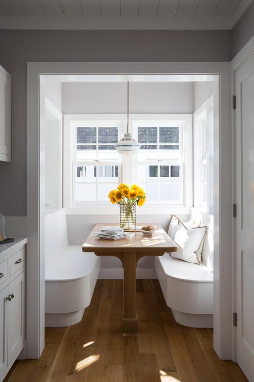 Modern Farmhouse Breakfast Nook Banquette with Windows