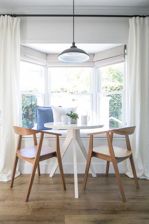 Modern Farmhouse Breakfast Nook with Bay Window