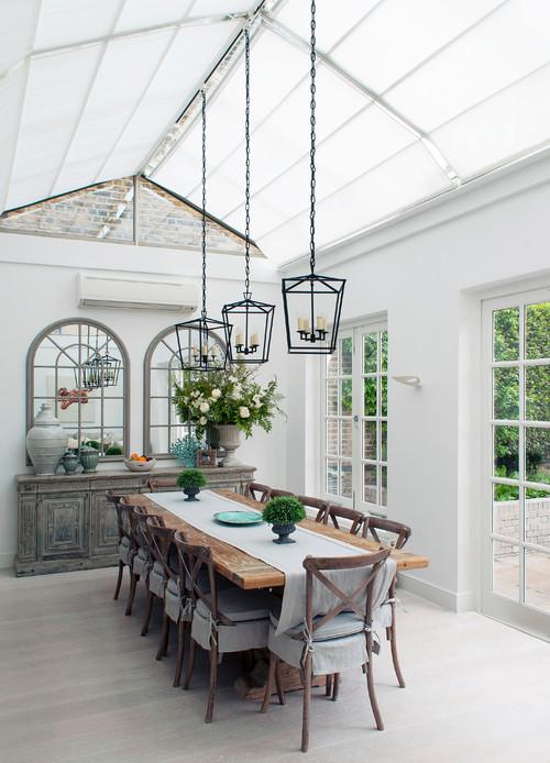Modern Farmhouse Gray Dining Room Decor Ideas