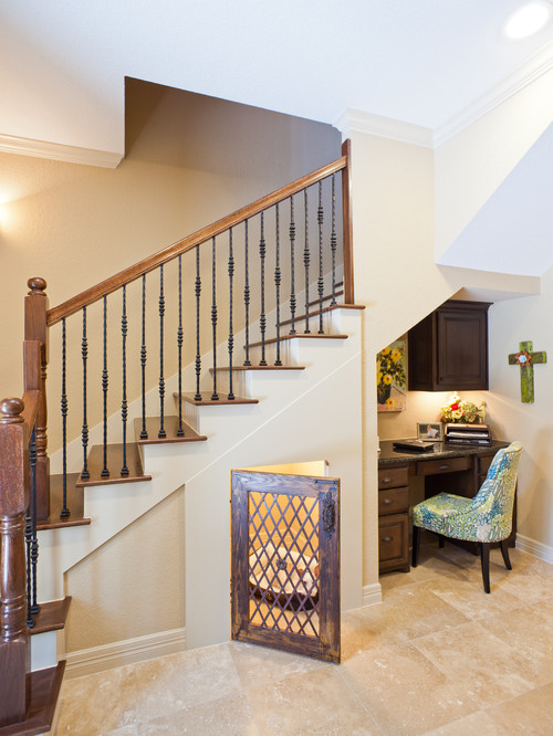 Built-in Dog-Bed Under Staircase