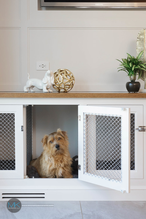 Built-in Dog Crate Console Table