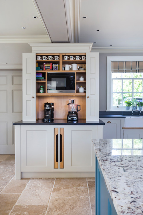 Built-in Kitchen Coffee Bar and Drink Station Cabinet