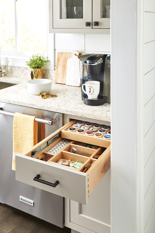 Built-in Kitchen Coffee Drawer