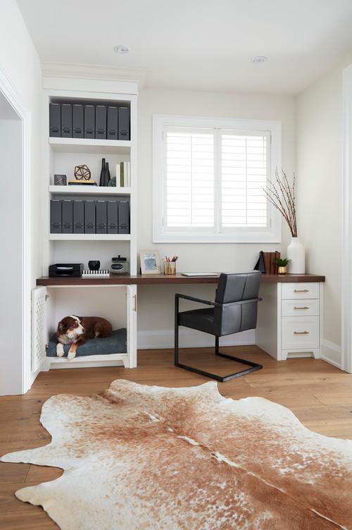 Dog Bed Built-in Home Office Desk