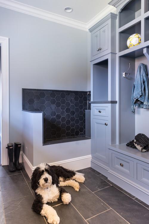 Dog Shower in Mudroom Corner