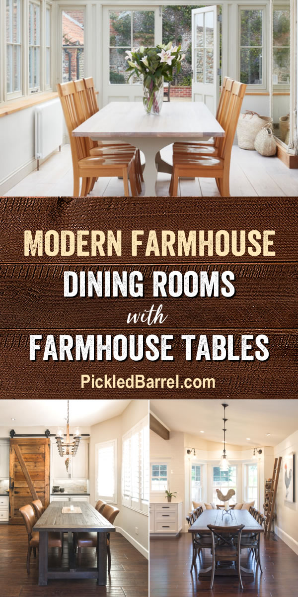 Modern Farmhouse Dining Rooms with Farmhouse Tables