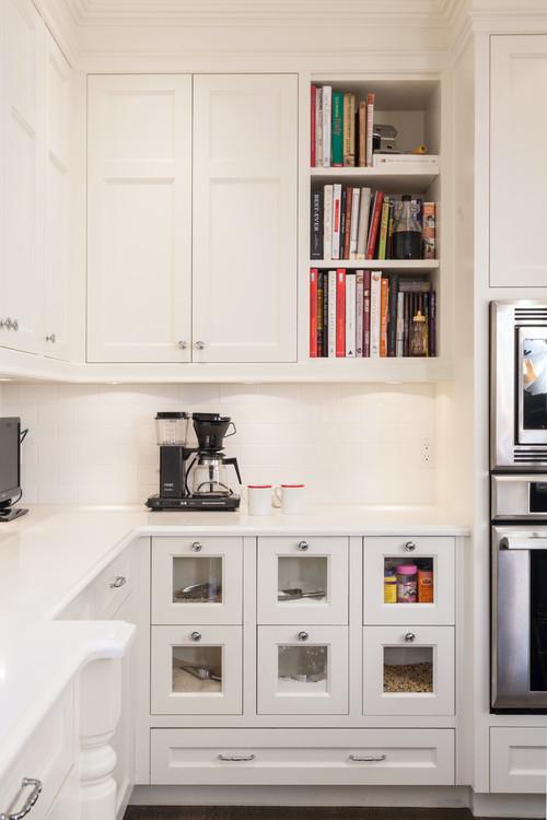Modern Farmhouse Kitchen Organization: Drawers for Dry Goods