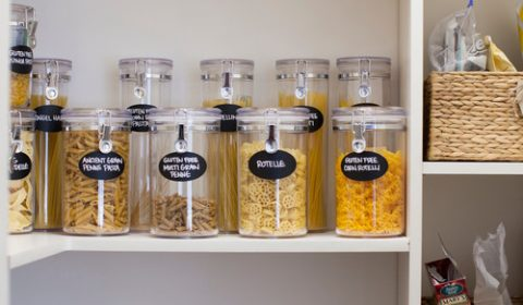 Modern Farmhouse Kitchen Organization: Jars for Dry Goods