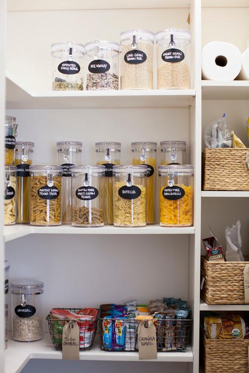 Modern Farmhouse Kitchen Organization: Jars for Dry Goods