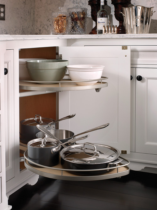 Modern Farmhouse Kitchen Organization: Pull-outs for Pots and Pans