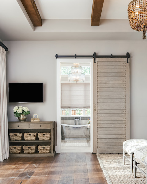 Farmhouse Bathroom Sliding Barn Door