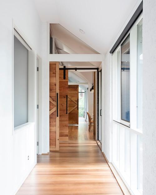 Farmhouse Hallway Sliding Barn Doors