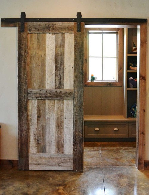 Farmhouse Mudroom Sliding Barn Door