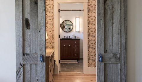 Rustic Bedroom Sliding Barn Door