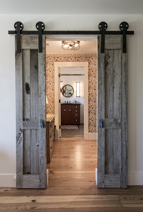 Rustic Bedroom Sliding Barn Door